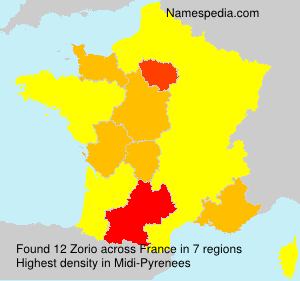 Surname Zorio in France