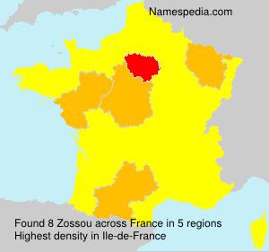 Surname Zossou in France