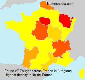 Surname Zougar in France