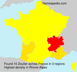 Surname Zouiter in France