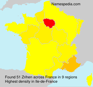 Surname Zrihen in France