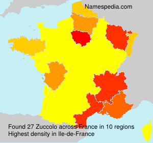 Surname Zuccolo in France