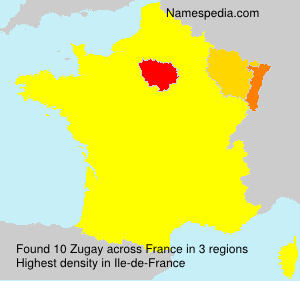 Surname Zugay in France
