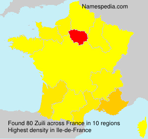 Surname Zuili in France