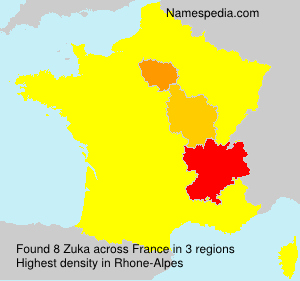 Surname Zuka in France