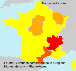 Surname Zumbach in France