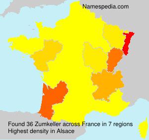 Surname Zumkeller in France