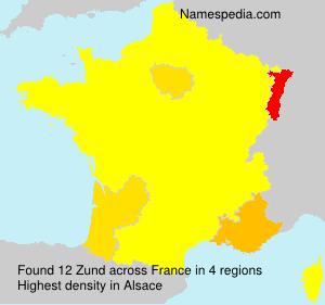Surname Zund in France