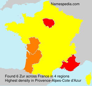 Surname Zur in France