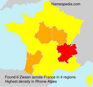 Surname Zwaan in France
