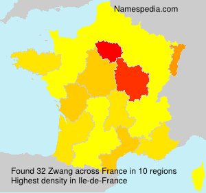 Surname Zwang in France