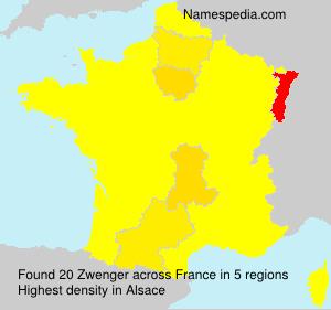 Surname Zwenger in France