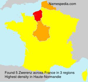 Surname Zwerenz in France