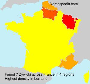 Surname Zywicki in France
