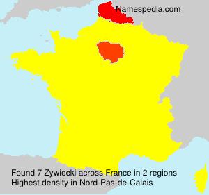 Surname Zywiecki in France