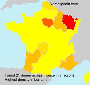 Surname denee in France