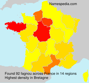 Surname fagnou in France