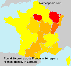 Surname greif in France