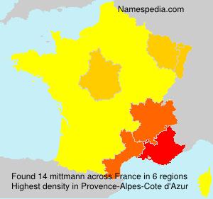 Familiennamen mittmann - France