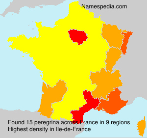 Surname peregrina in France