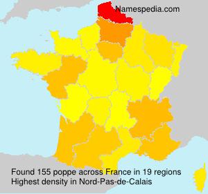 Surname poppe in France