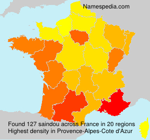 Surname saindou in France