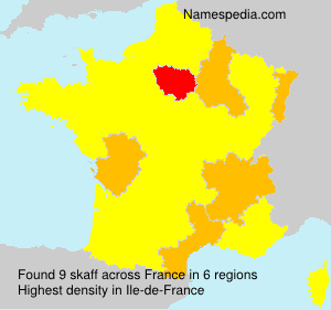 Surname skaff in France