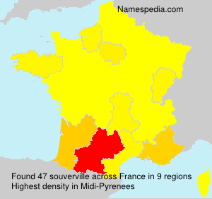 Surname souverville in France