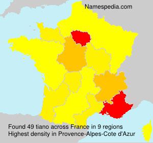 Familiennamen tiano - France