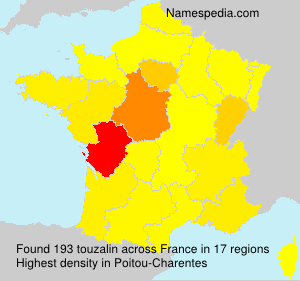 Surname touzalin in France