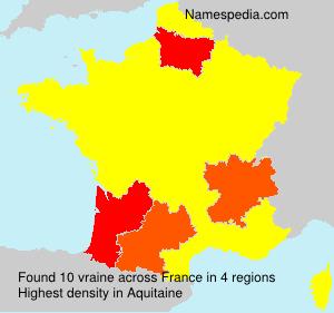 Familiennamen vraine - France