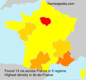 Surname zia in France