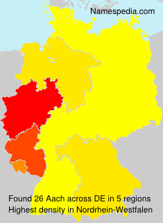 Surname Aach in Germany