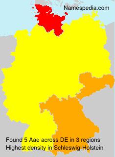 Familiennamen Aae - Germany