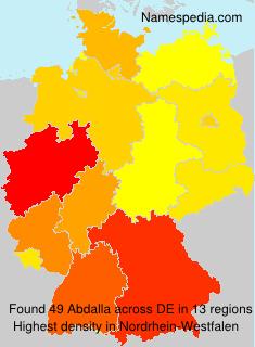 Surname Abdalla in Germany