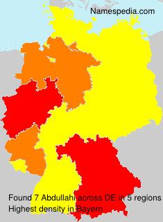 Familiennamen Abdullahi - Germany