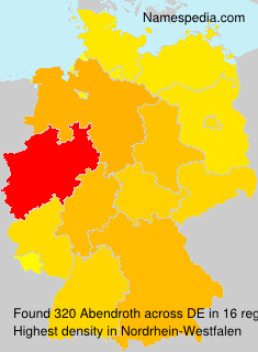 Surname Abendroth in Germany