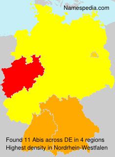 Familiennamen Abis - Germany