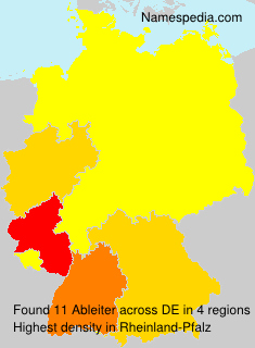 Surname Ableiter in Germany