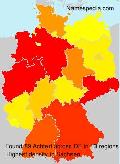 Familiennamen Achtert - Germany