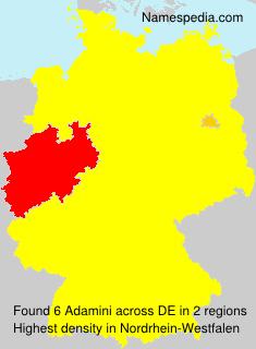 Familiennamen Adamini - Germany