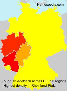 Familiennamen Adelseck - Germany