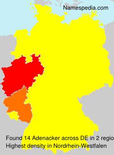 Surname Adenacker in Germany