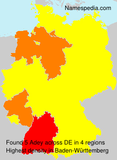 Surname Adey in Germany
