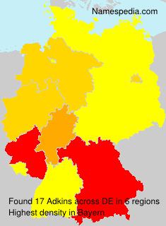 Surname Adkins in Germany