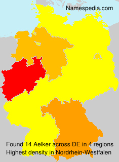 Surname Aelker in Germany