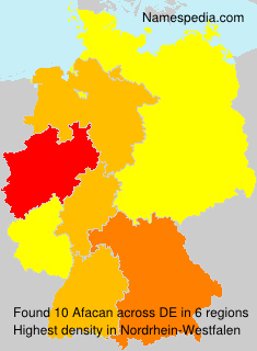 Surname Afacan in Germany