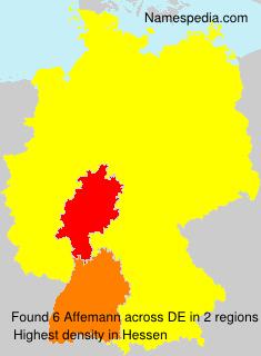 Surname Affemann in Germany