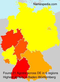 Familiennamen Agosta - Germany