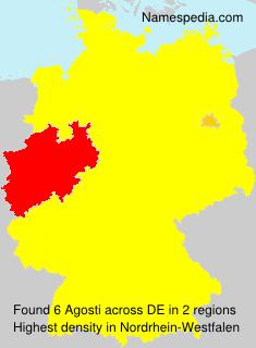 Surname Agosti in Germany